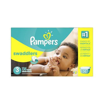 Pampers Swaddlers - Size 3, Econo Pack 136-Count