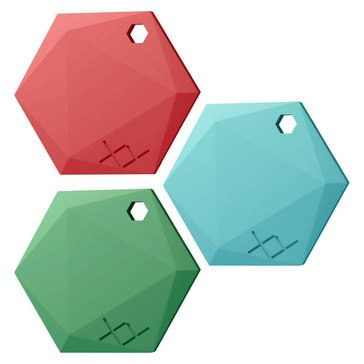 XY Find It Bluetooth Item Finder Beacon 3-pack - Classic Jade, Aquamarine, Ruby