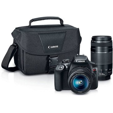 Canon EOS Rebel T6 18 MP DSLR Camera Bundle with 18-55mm & 75-300mm Lenses