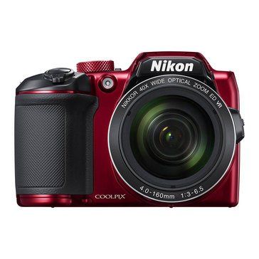 Nikon Coolpix B500 16MP Digital Camera with Built-in WiFi and Bluetooth - Red