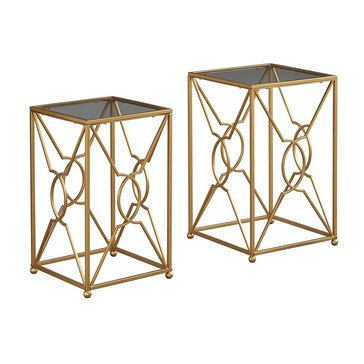 Marxim Nesting End Tables - Gold Finish