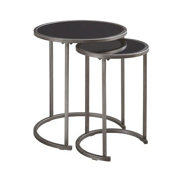 Marxim Nesting Tables - Pewter Finish