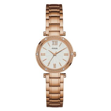 Guess Women's Rose Gold Tone/Stainless Steel Bracelet Watch, 40mm