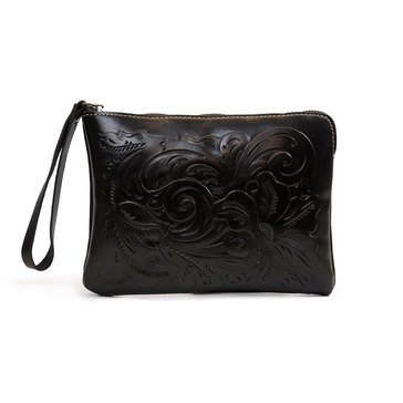 Patricia Nash Cassini Wristlet Tooled Black