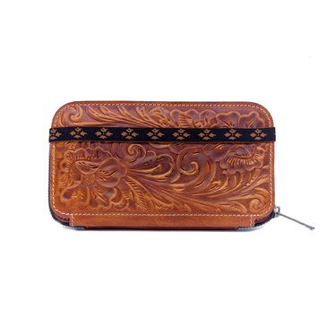 Patricia Nash Oria Zip Around Wallet Tooled Florence