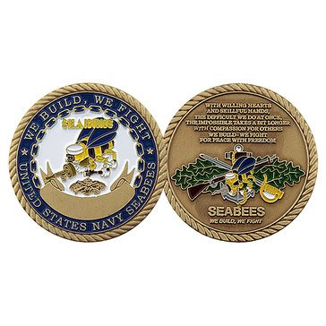 Challenge Coins USN Seabee Coin