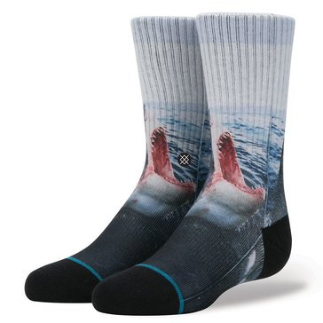 Stance Little Boys' Sea Wolf Crew Socks, Blue