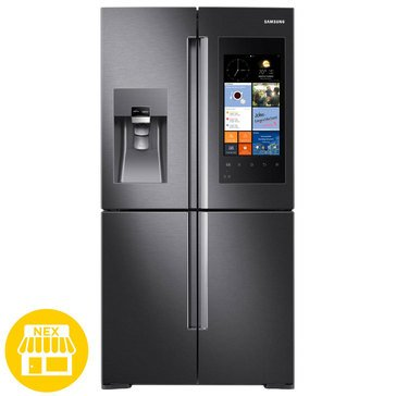 Samsung 28-Cu.Ft. 4-Door FlexZone Refrigerator With Family Hub, Black Stainless Steel (RF28K9580SG)