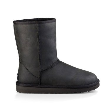 Ugg Classic Short Leather Women's Boot Black