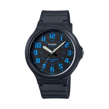 Casio Men's Classic 3-Hand Analog Watch MW240-2BV, Blue/ Black