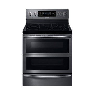 Samsung 5.9-Cu.Ft. Electric Flex Duo Range, Black Stainless Steel (NE59J7850WG)