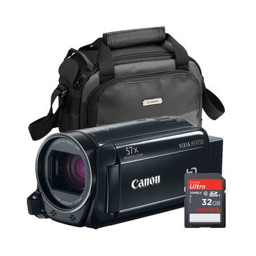 Canon Vixia HF R700 HD Camcorder Military Bundle with Case and 32GB SD Card