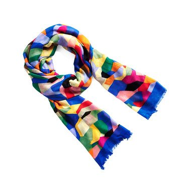 Vera Bradley New Soft Fringe Scarf Pop Art