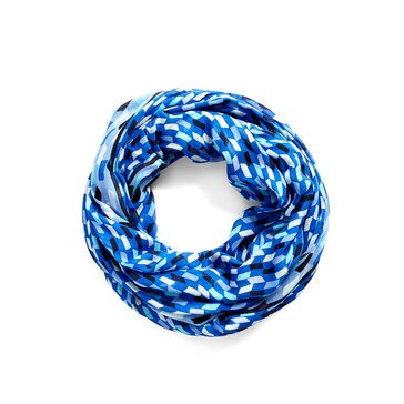 Vera Bradley Woven Infinity Scarf Multi Faceted Blue