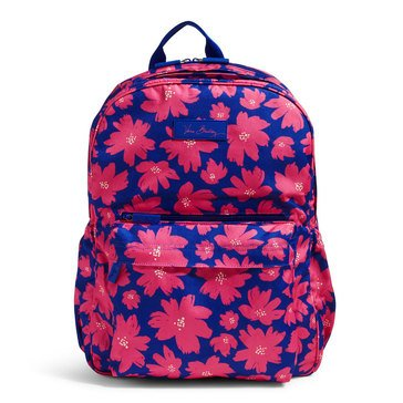 Vera Bradley Lighten Up Laptop Grande Backpack Art Poppies