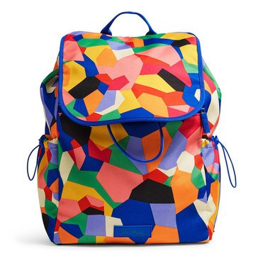 Vera Bradley Lighten Up Large Drawstring Backpack Pop Art