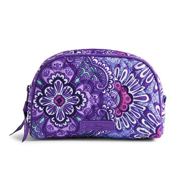 Vera Bradley Small Zip Cosmetic Lilac Tapestry