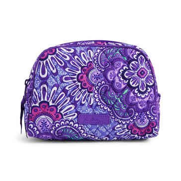 Vera Bradley Medium Zip Cosmetic Lilac Tapestry