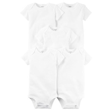 Carter's Baby 5-Pack White Bodysuits