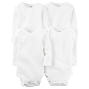 Carter's Baby 5-Pack White Long Sleeve Bodysuits