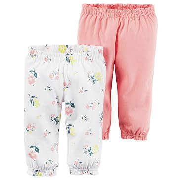 Carter's Baby Girls' 2-Pack Floral Pants