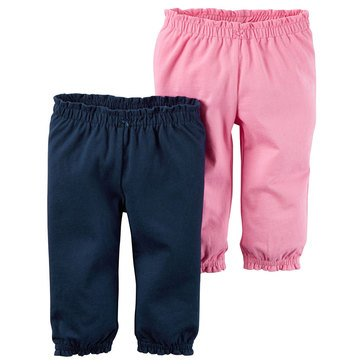 Carter's Baby Girls' 2-Pack Navy Pink Pants