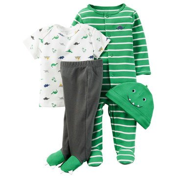 Carter's Baby Boys' 4-Piece Dino Layette Set