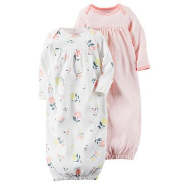 Carter's Baby Girls' 2-Pack Floral Gown Set