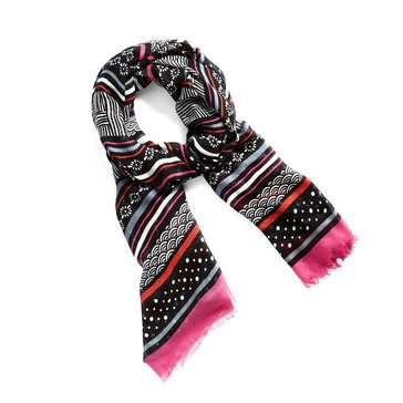 Vera Bradley New Soft Fringe Scarf Northern Stripes
