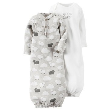 Carter's Baby 2-Pack Sheep Gown Set