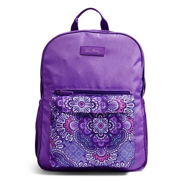 Vera Bradley Large Colorblock Backpack Lilac Tapestry