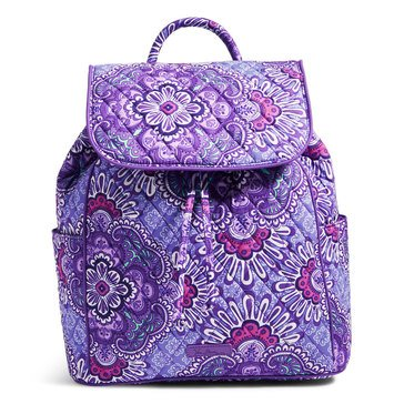 Vera Bradley Drawstring Backpack Lilac Tapestry