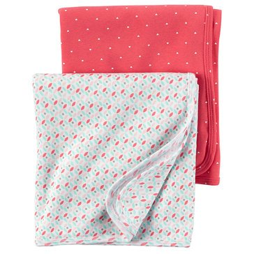 Carter's Baby Girls' 2-Pack Geo Swaddle Blankets