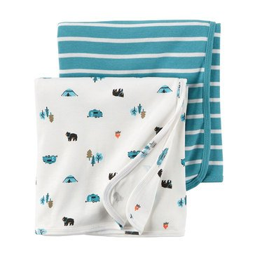 Carter's Baby Boys' 2-Pack Camping Swaddle Blankets