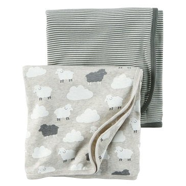 Carter's Newborn 2-Pack Sheep Swaddle Blanket