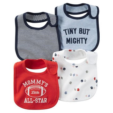 Carter's Baby Boys' 4-Pack Sports Bibs