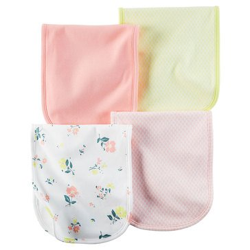 Carter's Baby Girls' 4-Pack Floral Burp Cloths