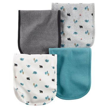 Carter's Baby Boys' 4-Pack Camping Burp Cloths