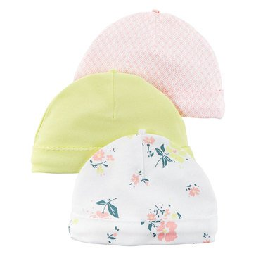 Carter's Baby Girls' 3-Pack Floral Hats
