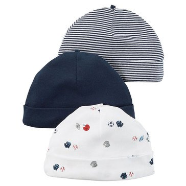 Carter's Baby Boys' 3-Pack Sports Hats