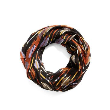 Vera Bradley Woven Infinity Scarf Feather Arrows