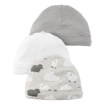 Carter's Newborn 3-Pack Sheep Hats