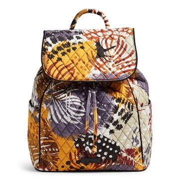 Vera Bradley Drawstring Backpack Painted Feathers