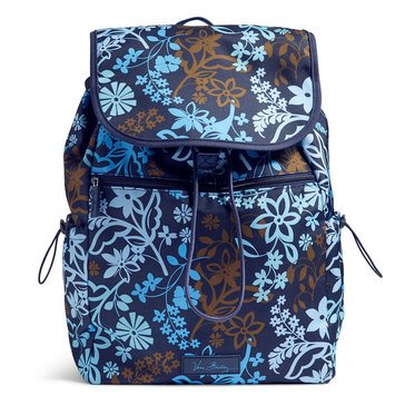 Vera Bradley Lighten Up Lg Drawstring Backpack Java Floral