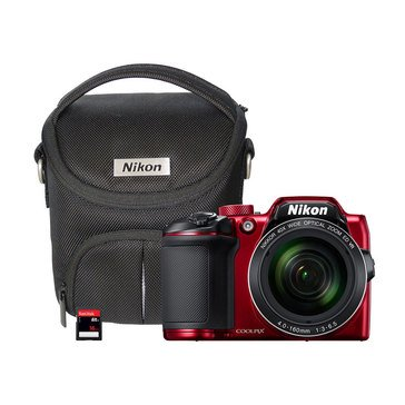 Nikon Coolpix B500 16MP Digital Camera Bundle - Red