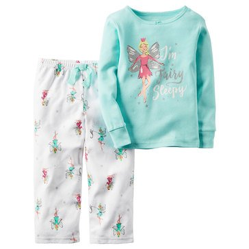 Carter's Big Girls' Fairies 2-Piece Cotton Pajama