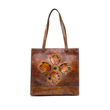 Patricia Nash Toscano Tote Tuscan Floret Tooling