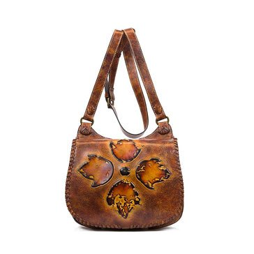 Patricia Nash Borghetto Braided Saddle Bag Tuscan Floret Tooling