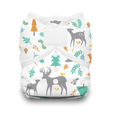 Thirsties Snap Duo Wrap Cloth Diaper, Woodland - Size 1