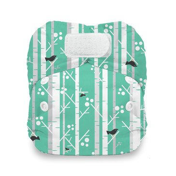 Thirsties Snap Duo All-In-One Cloth Diaper, Aspen Grove - Newborn